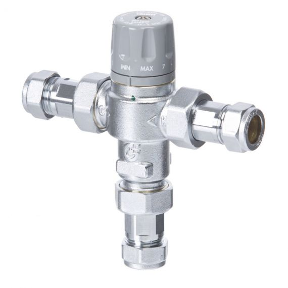 DTC 45-65° TEMPERING VALVE WITH COMPRESSION ENDS - ART 5218